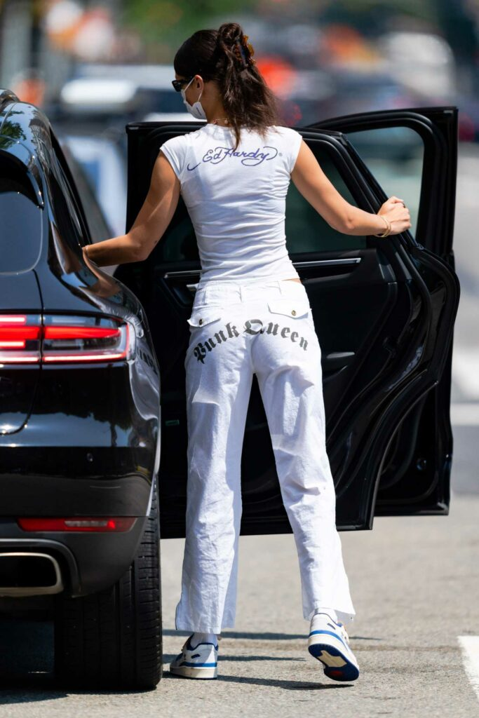 Bella Hadid in a White Outfit