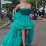Blanca Blanco in a Green Gown Was Seen During a Photoshoot in Cannes