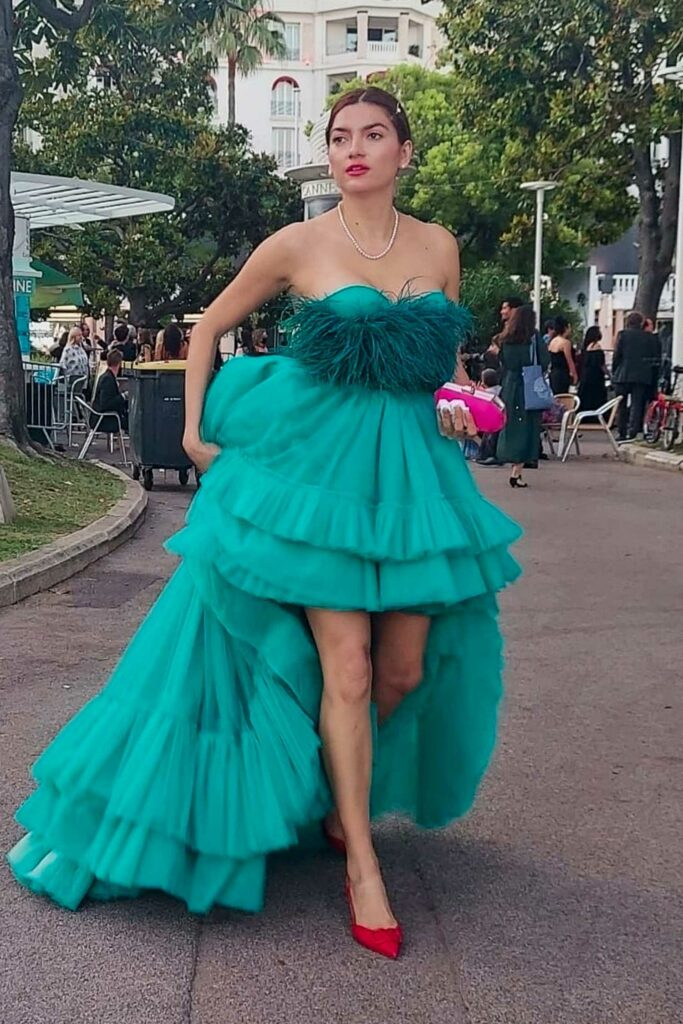 Blanca Blanco in a Green Gown