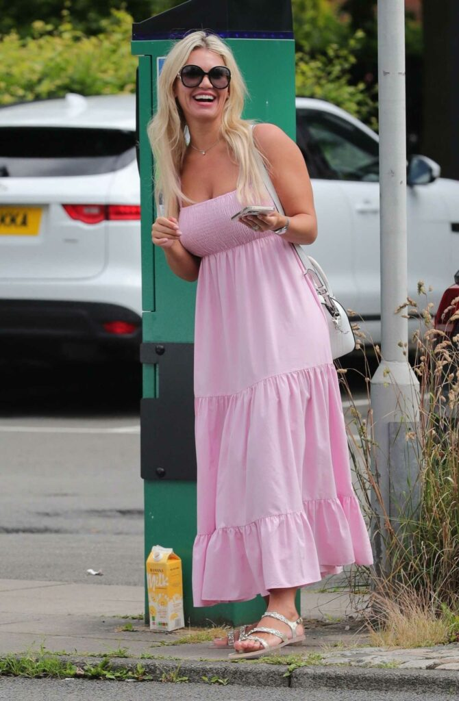Christine McGuinness in a Pink Dress