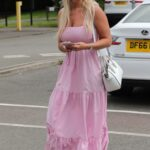 Christine McGuinness in a Pink Dress Was Spotted Out in Wilmslow, Cheshire