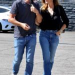 Cindy Crawford in a Black Blouse Was Seen Out with Rande Gerber in West Hollywood