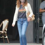 Cindy Crawford in an Animal Print Protective Mask Was Seen Out with Her Son Presley Gerber in Malibu