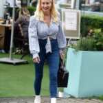 Denise Van Outen in a Blue Jeans Was Seen Out in Alderley Edge, Cheshire