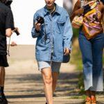 Gigi Hadid in a Denim Shirt Was Seen Out in Brooklyn, New York