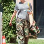 Gwen Stefani in a Camo Pants Was Seen Out in Los Angeles