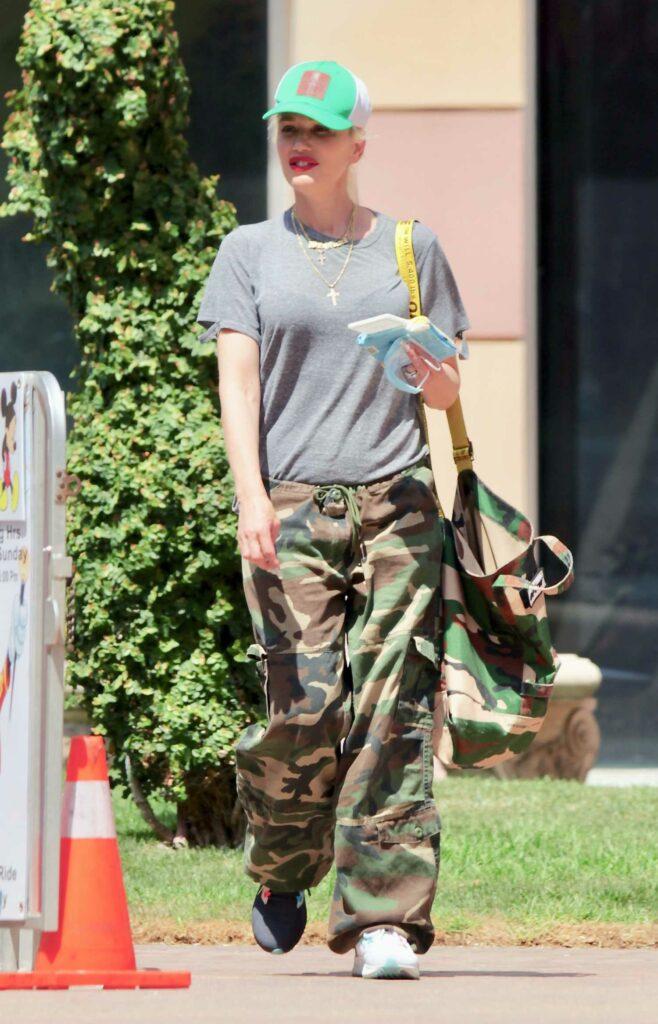 Gwen Stefani in a Camo Pants