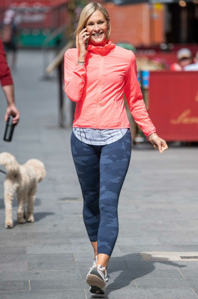 Jenni Falconer in a Grey Camo Leggings