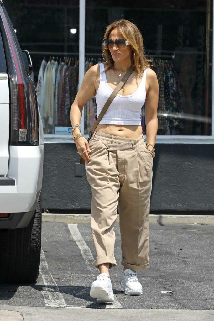 Jennifer Lopez in a White To
