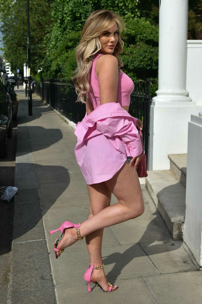 Kelsey Stratford in a Pink Top