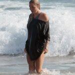 Kesha Was Seen on the Beach in Los Angeles