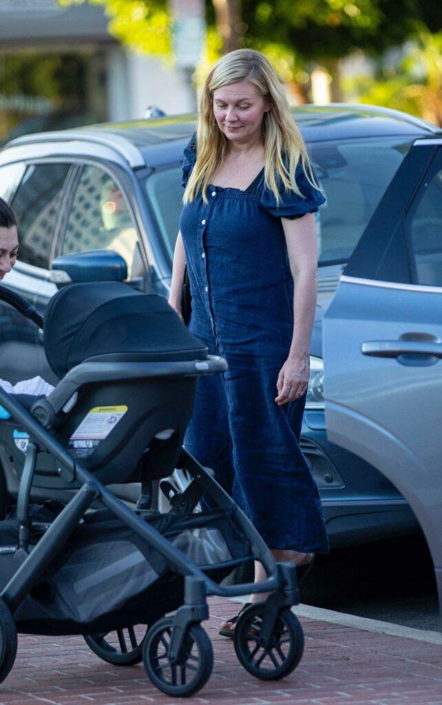 Kirsten Dunst in a Blue Dress