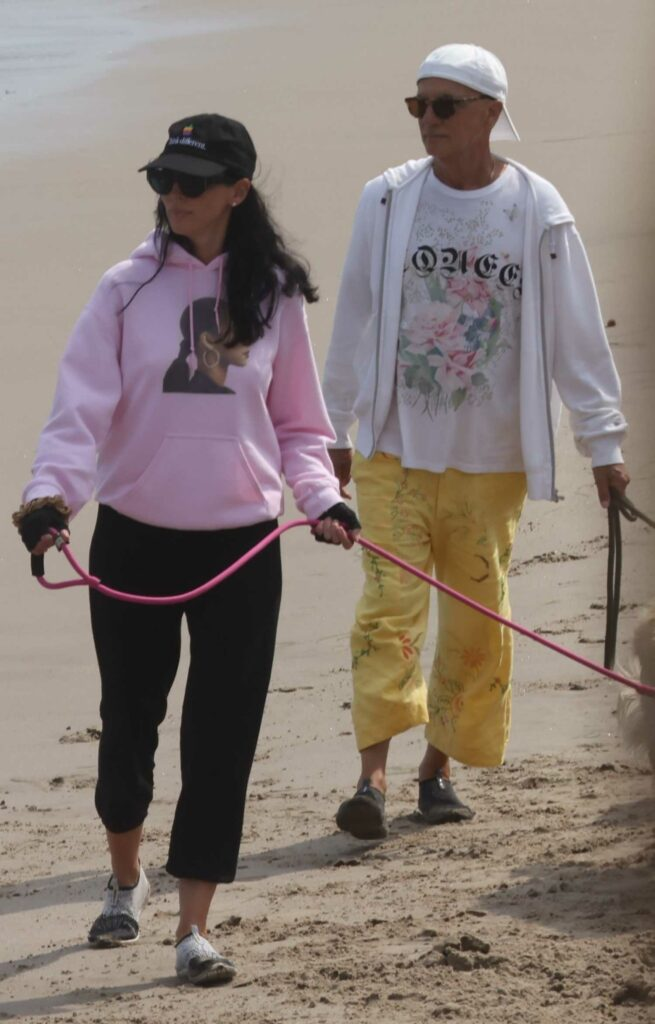 Liberty Ross in a Pink Hoodie