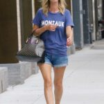 Nicky Hilton in a Denim Shorts Was Seen Out in Manhattan's SoHo Area in NYC