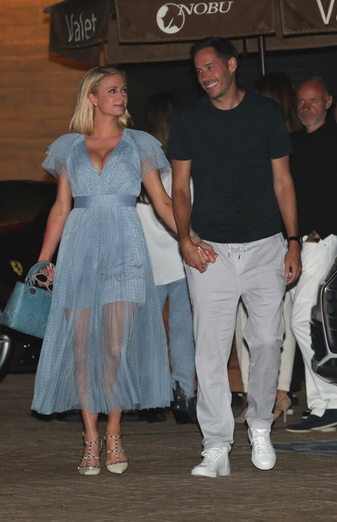 Paris Hilton in a Baby Blue Dress