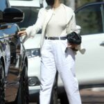 Sofia Richie in a White Pants Goes Shopping in Beverly Hills