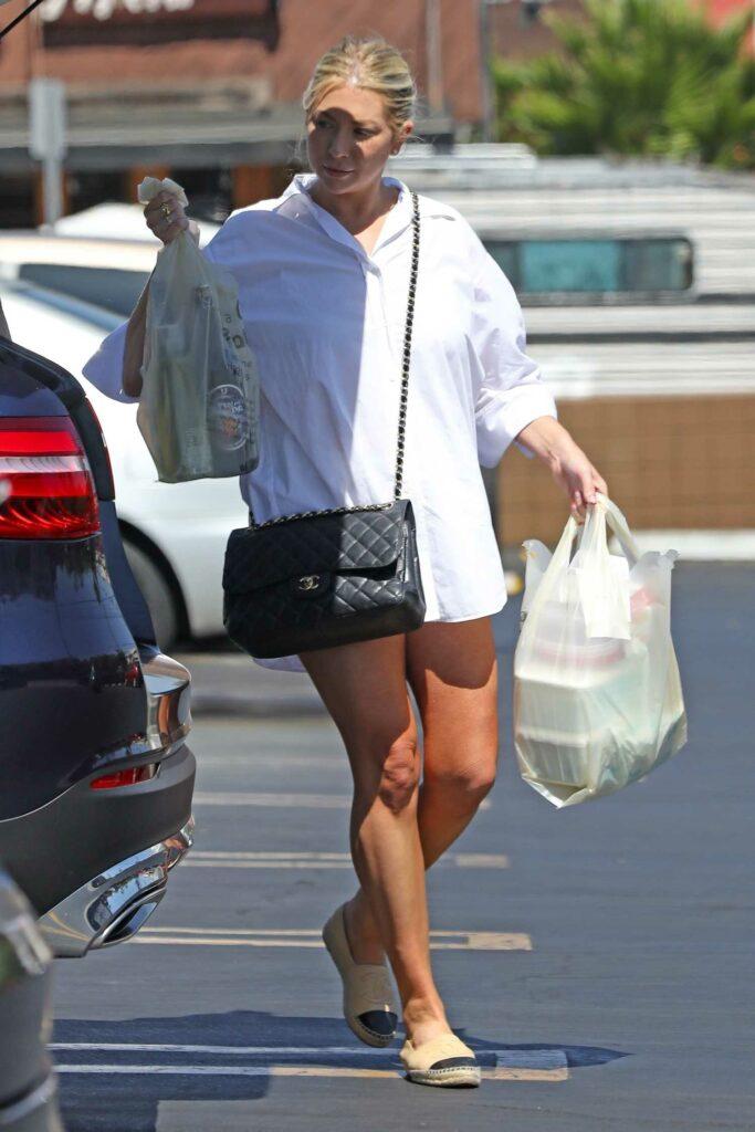 Stassi Schroeder in a White Shirt