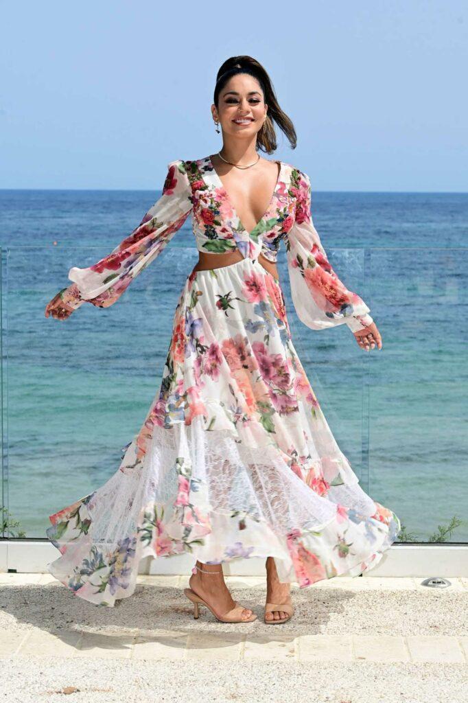 Vanessa Hudgens in a Floral Dress