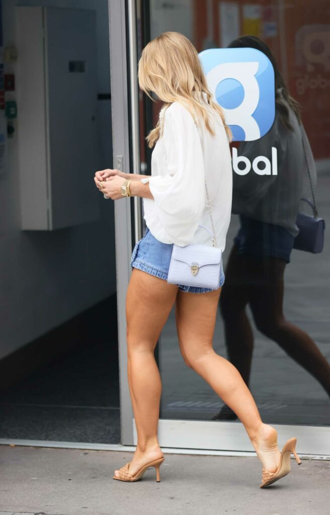 Vogue Williams in a Blue Shorts