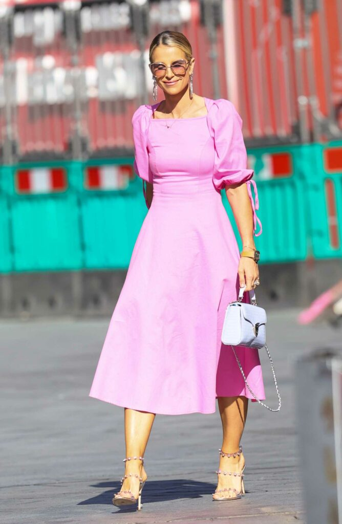 Vogue Williams in a Pink Dress