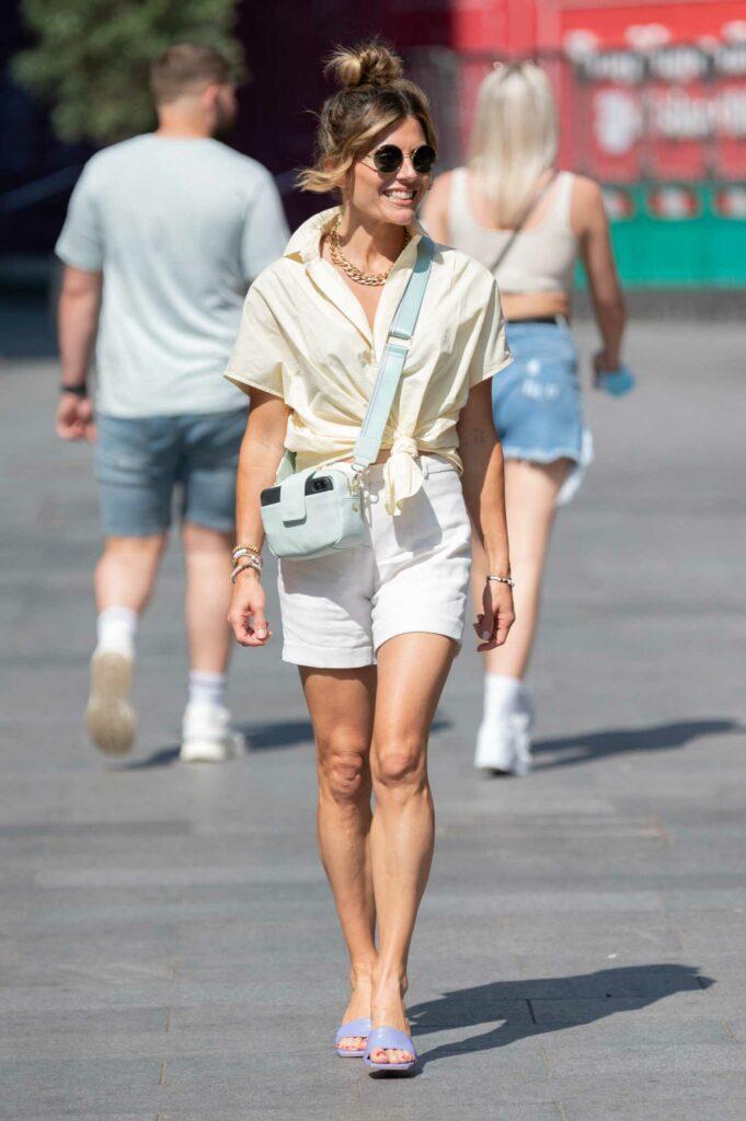 Zoe Hardman in a White Shorts