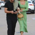 Alessandra Ambrosio in a Green Suit Was Seen Out with Boyfriend Richard Lee in Malibu