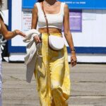 Alessandra Ambrosio in a Yellow Pants Was Seen Out in Malibu