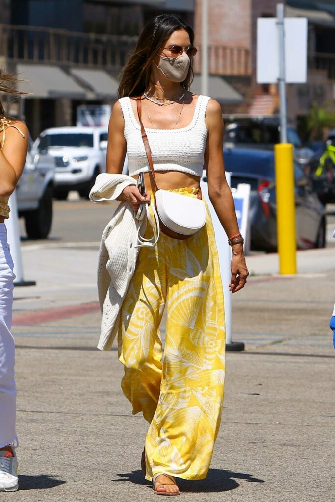 Alessandra Ambrosio in a Yellow Pants