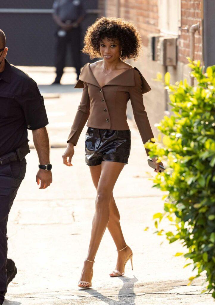 Allyson Felix in a Tan Blazer