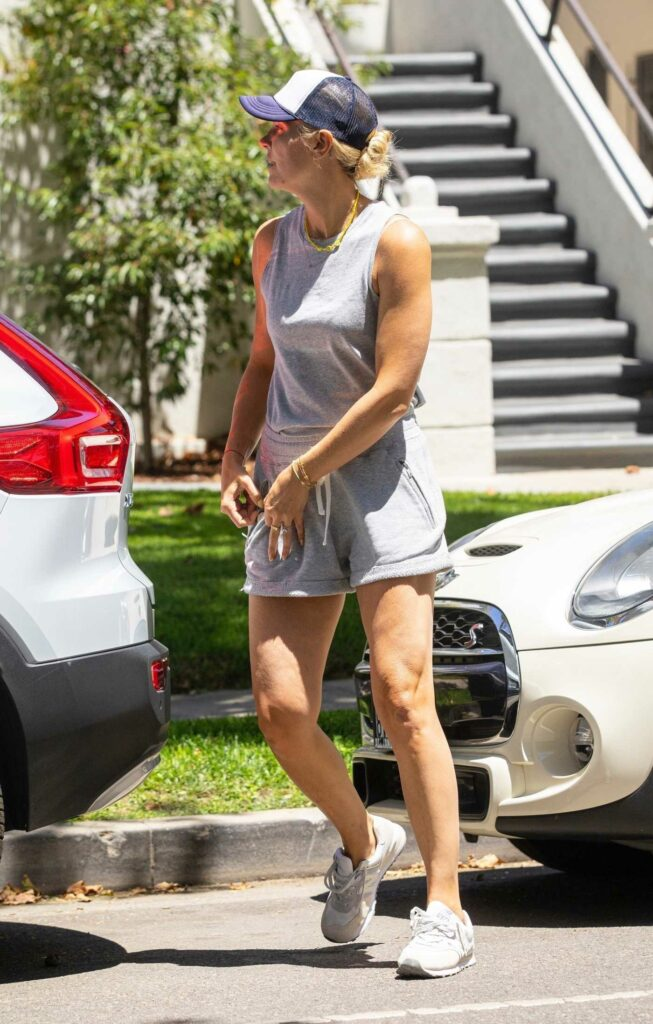 Amanda Kloots in a White Sneakers