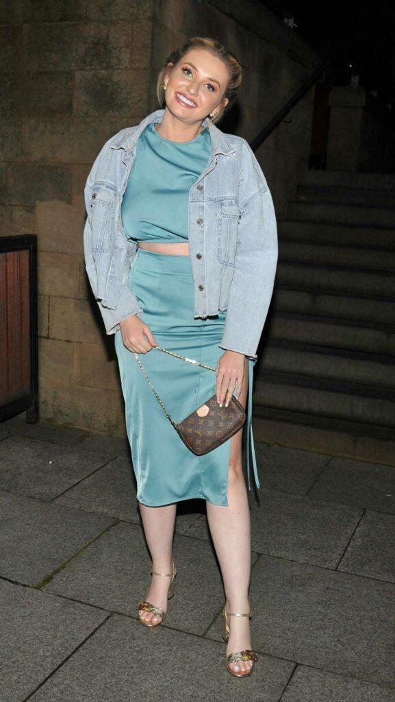 Amy Hart in a Blue Denim Jacket