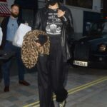 Bella Hadid in a Black Leather Blazer Was Seen Out in London