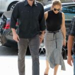 Ben Affleck in a Black Shirt Was Seen Out with Jennifer Lopez in Los Angeles