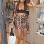 Blanca Blanco in a Snakeskin Print Mini Skirt Shops Diamonds in Catanzaro