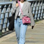 Charlotte Jordan in a Black Sneakers Was Seen Out in Manchester