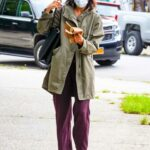 Katie Holmes in an Olive Jacket Was Seen Out in the East Village in NYC