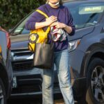 Kirsten Dunst in a Purple Sweatshirt Was Seen Out in Los Angeles