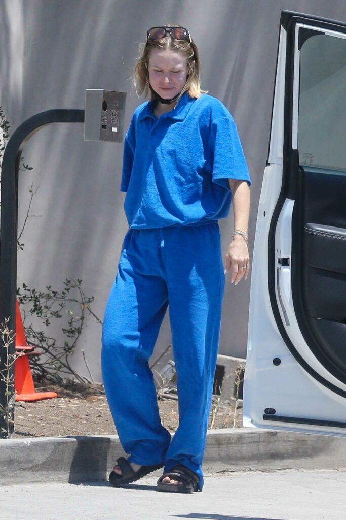 Kristen Bell in a Blue Sweatsuit