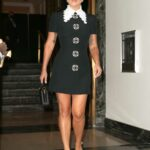 Lady Gaga in a Black Mini Dress Heads for Rehearsal with Tony Bennett in New York