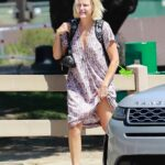 Malin Akerman in a Patterned Summer Dress Was Seen Out in Los Angeles