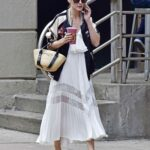 Olivia Palermo in a White Summer Skirt Was Seen Out in New York