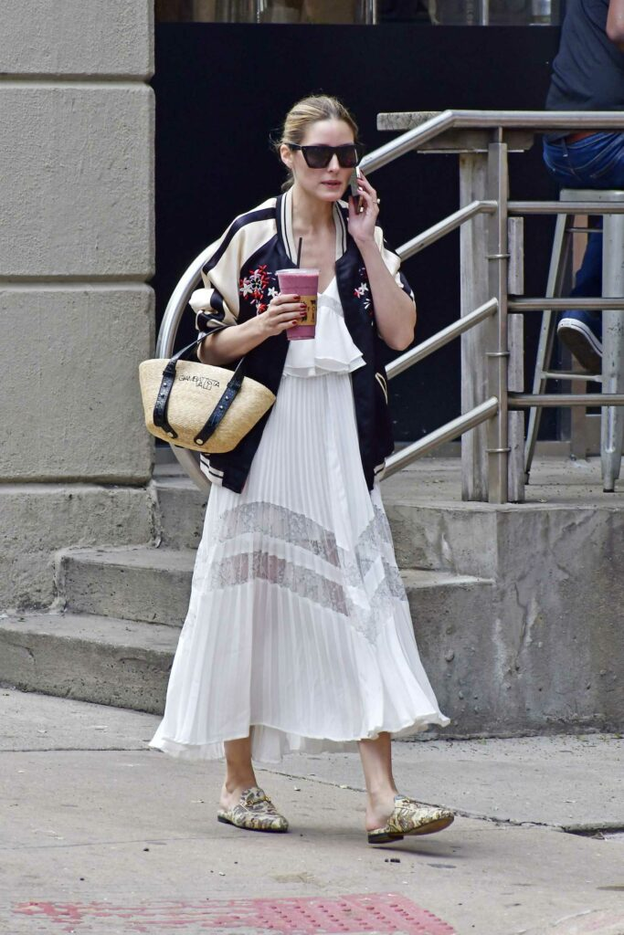 Olivia Palermo in a White Summer Skirt