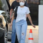 Sofia Richie in a White Tee Leaves La Jolie Beauty Salon in Beverly Hills