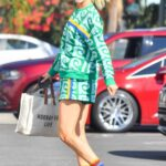 Amanda Kloots in a Patterned Green Outfit Heads into DWTS Rehearsals in Pasadena