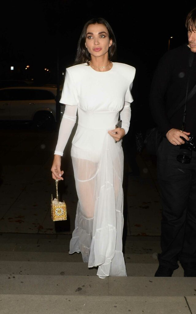 Amy Jackson in a White Dress