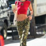 Bella Hadid in a Red Top Was Seen Out in Manhattan in New York