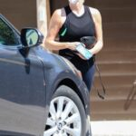 Charlize Theron in a Black Tank Top Heads to a Skinic Salon in West Hollywood