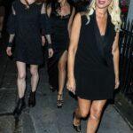 Denise Van Outen in a Black Dress Was Seen Out in London