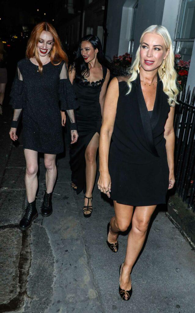 Denise Van Outen in a Black Dress
