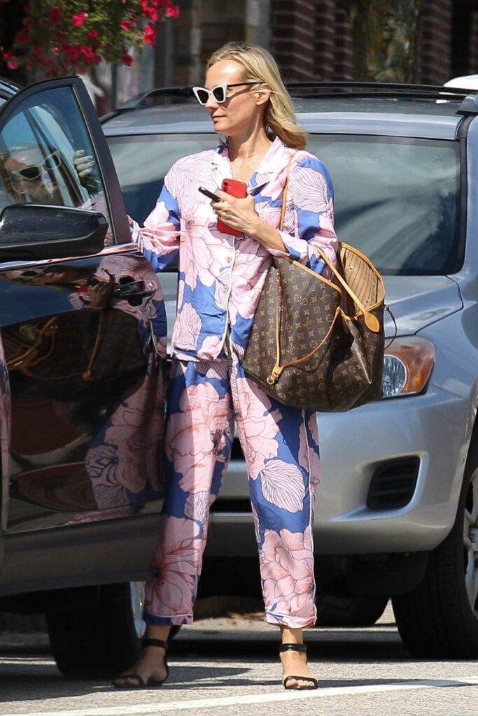 Diane Kruger in a Floral Suit